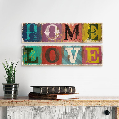 Holzschild Home & Love