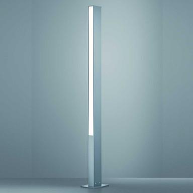 LED Wegeleuchte Tendo in Silbergrau und Transparent-satiniert 48W 7540lm IP55