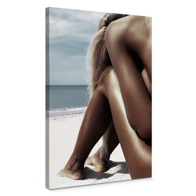 Leinwandbild Stefanovicius - Nackt am Strand