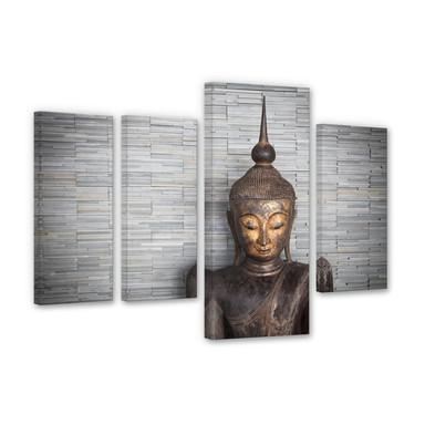 Leinwandbild Thailand Buddha (4-teilig)