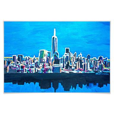 Poster Bleichner - New York im Neonschimmer
