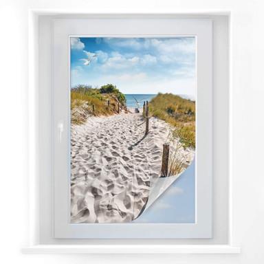 Sichtschutzfolie Way to the Beach