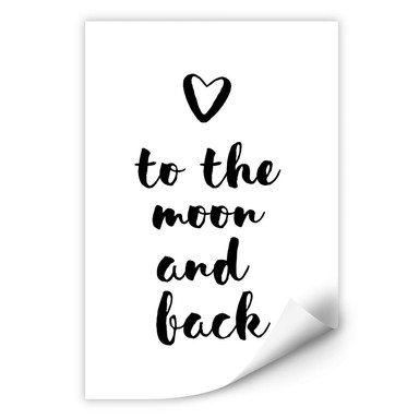 Wallprint Love to the moon and back