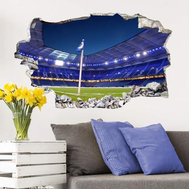 3D Wandtattoo HSV Arena 02