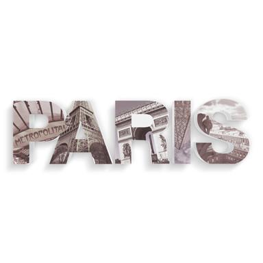 Dekobuchstaben 3D PARIS bedruckt