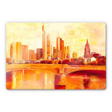 Glasbild Schüssler - Skyline Frankfurt