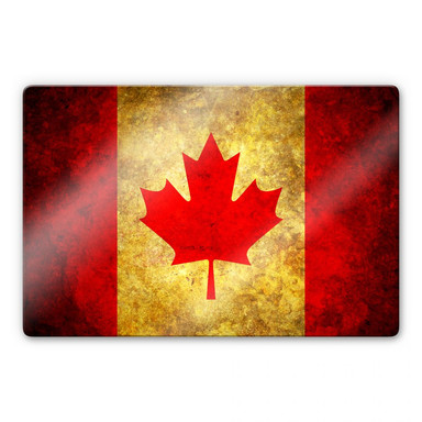 Glasbild The Maple Leaf