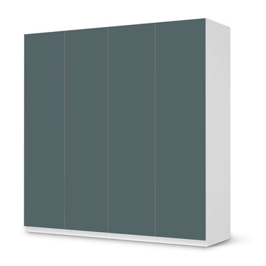 Klebefolie IKEA Pax Schrank 201cm Höhe - 4 Türen - Blaugrau Light- Bild 1