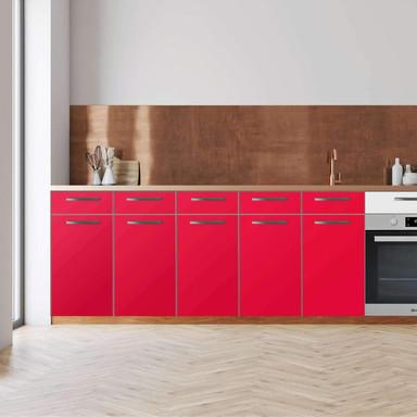 Küchenfolie - Unterschrank 200cm Breite - Rot Light