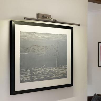 LED Bilderleuchte Goya in Nickel-Gebürstet 12.6W 630lm 760mm