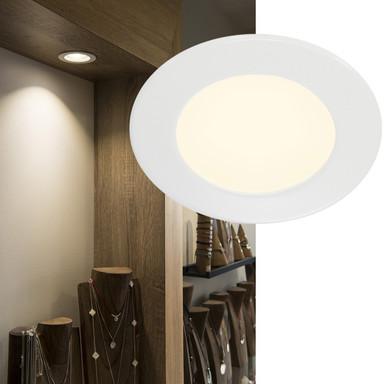 LED Einbauleuchte DL 126. rund, weiss, 2700 K