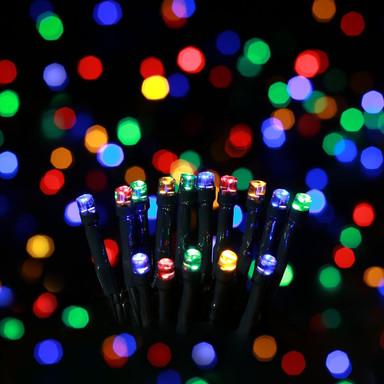 LED Lichterkette mit grünem Kabel 360-flammig Farbwechsel oder Warmweiss