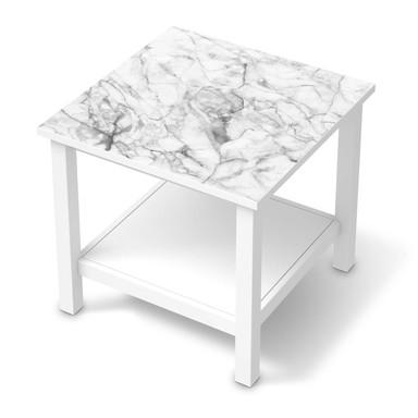 Möbel Klebefolie IKEA Hemnes Tisch 55x55cm - Marmor weiss