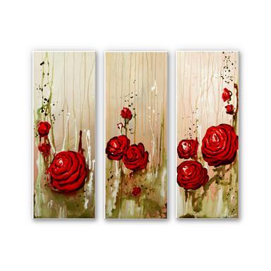 Wandbild Fedrau - Roses (3-teilig)