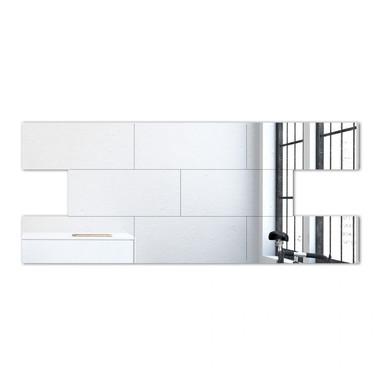 Wandspiegel Ziegelsteine Spiegel-Set