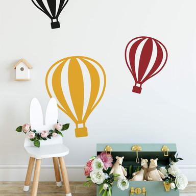 Wandtattoo Heissluftballon mit senkrechten Linien