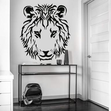 Wandtattoo Löwenkopf