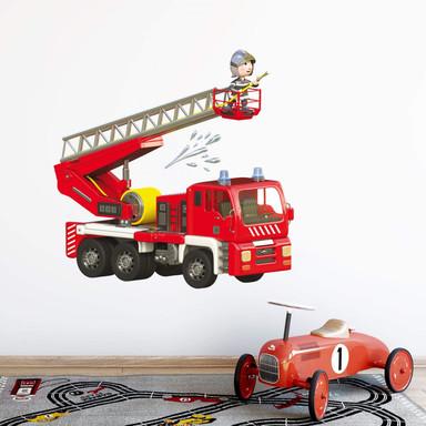 Wandtattoo Michel Agullo - Kleiner Feuerwehrmann im Einsatz