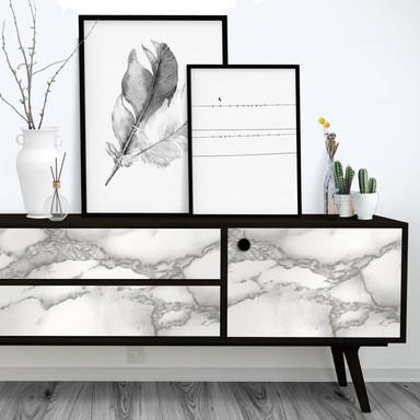 Dekofolie Weisser Marmor - selbstklebend