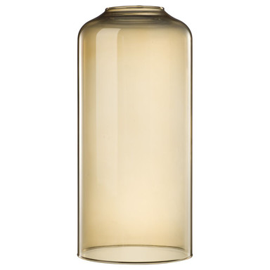 Designer Glas zur Pendelleuchte Askja, amber, länglich, gross, by Kok & Berntsen