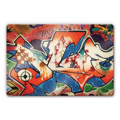 Glasbild Graffiti