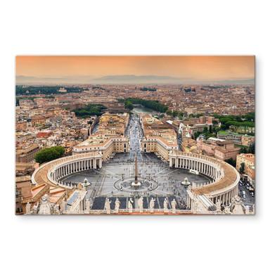 Glasbild Hugonnard - Petersplatz Rom