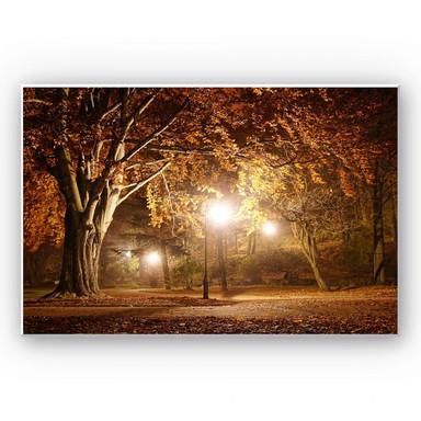 Hartschaumbild Herbst im Park