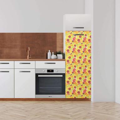 Klebefolie - Hochschrank (60x160cm) - Citrus- Bild 1