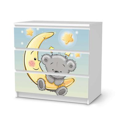 Klebefolie IKEA Malm Kommode 3 Schubladen - Teddy und Mond