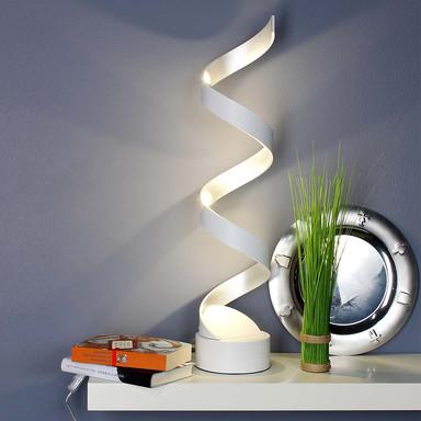 LED Tischleuchte Helix in Weiss und Silber 4x 3W 960lm IP20