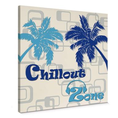 Leinwandbild Chillout Zone Blau