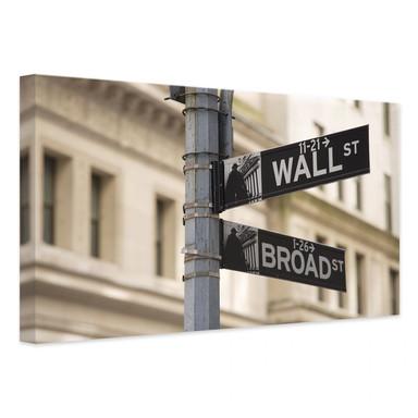 Leinwandbild Wallstreet