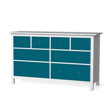 Möbelfolie IKEA Hemnes Kommode 8 Schubladen - Türkisgrün Dark