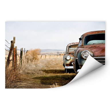 Wallprint Old Rusted Cars