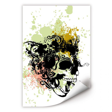 Wallprint Skull Tribal