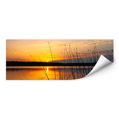 Wallprint Sonnenuntergang am See - Panorama