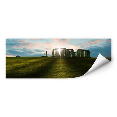 Wallprint Stonehenge im Sonnenuntergang- Panorama