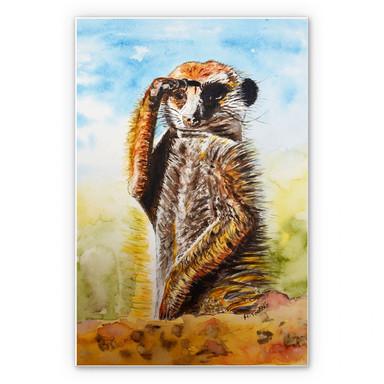 Wandbild Toetzke - Aufmerksames Erdmännchen