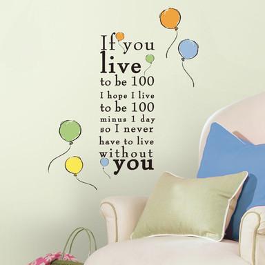 Wandsticker Winnie Puuh - Live to be 100 - Bild 1