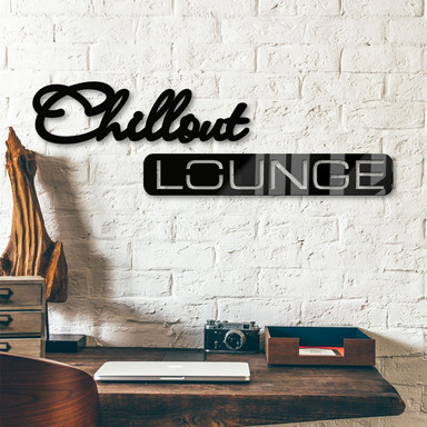 Acrylbuchstaben Chillout Lounge