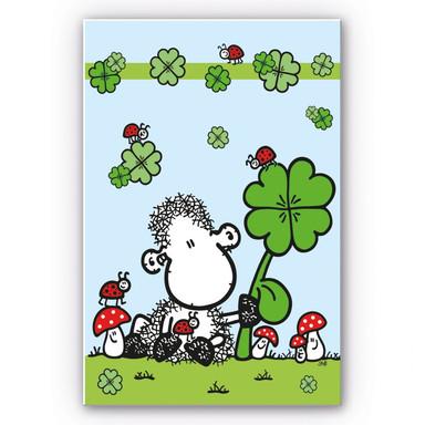 Hartschaumbild sheepworld Ganz viel Glück