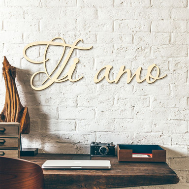 Holzbuchstaben Pappel - Ti amo