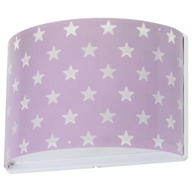 Kinderzimmer Wandleuchte Stars in Lila fluoreszierend E27