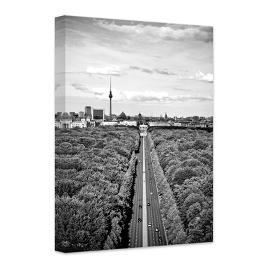 Leinwandbild Der Himmel über Berlin