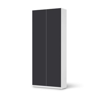 Möbelfolie IKEA Pax Schrank 236cm Höhe - 2 Türen - Grau Dark