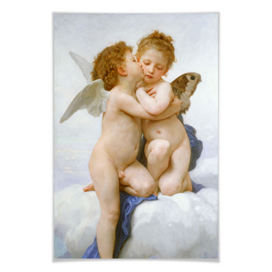 Poster Bouguereau - Der erste Kuss