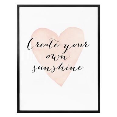 Poster Confetti & Cream - Create your own sunshine