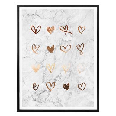 Poster Kupfer - Herzen