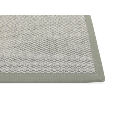 Saba Wollweb 3cm Bordürenteppich | Wunschmass | Rechteckig | Silver | Eisen 46
