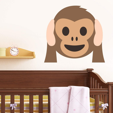 Wandtattoo Emoji Hear No Evil Monkey